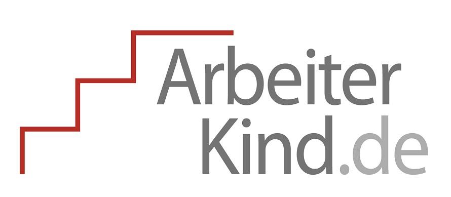 Logo und Schriftzug mit Arbeiterkind.de